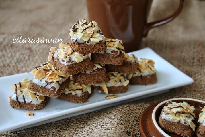 Biskut Coklat Badam / Almond Chocolate Cookies