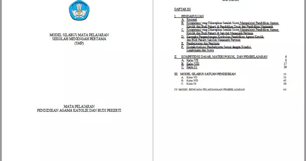 Silabus Rpp Pendidikan Agama Katolik Dan Budi Pekerti Smp Kurikulum 2013 Kelas Vii Viii Ix Berkas Edukasi