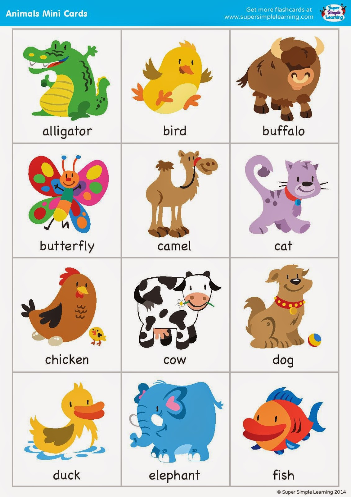 English Time Animals