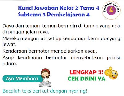 Kunci Jawaban Kelas 2 Tema 4 Subtema 3 Pembelajaran 4 www.simplenews.me
