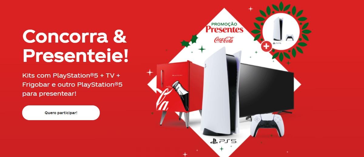 Concorra Kit PS5 Promoção Coca-Cola 2020 Natal