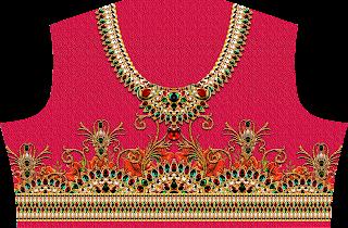 Textile Print Choli Design 2460
