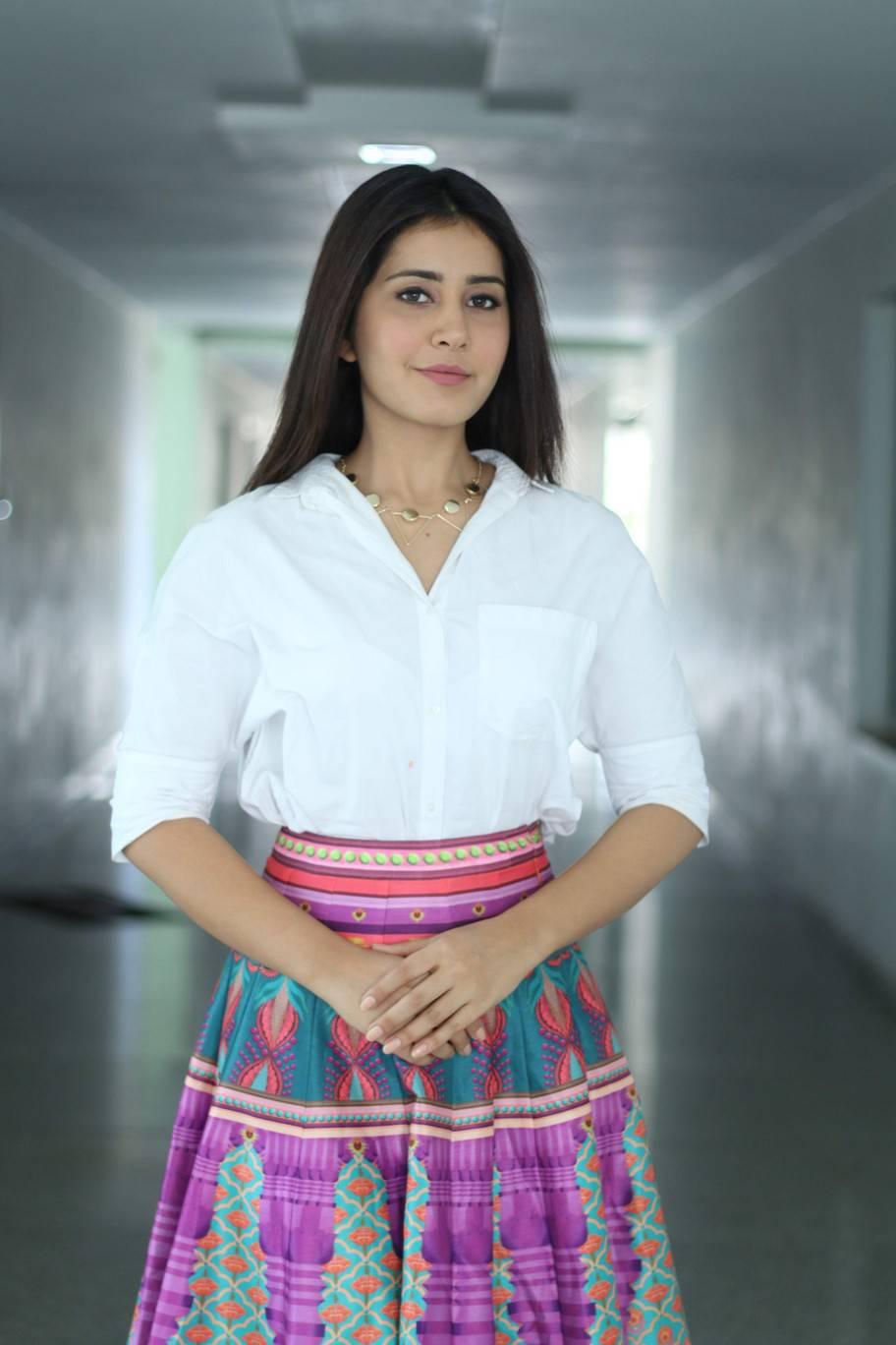 Glamorous Rashi Khanna Photoshoot In White Top