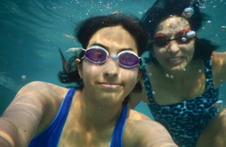 Selfie bajo el agua