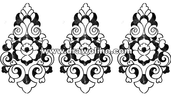 hand embroidery butta designs/embroidery butta sketch/pencil drawing butta design for embroidery