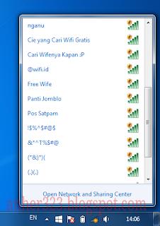 Screenshot dari laptop tetangga