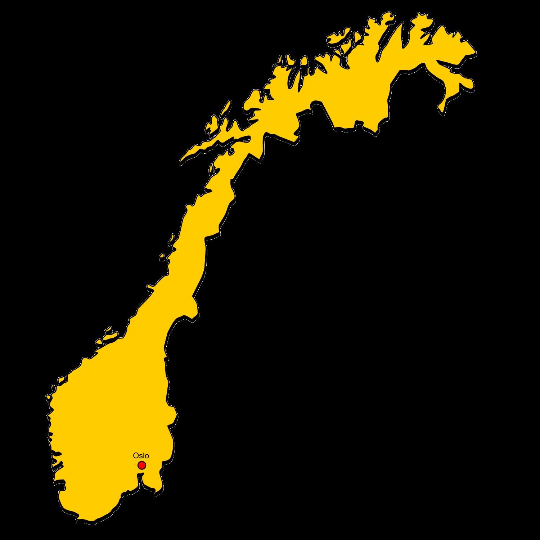 Norwegen In Gelb Landkarten Kostenlos Cliparts Kostenlos