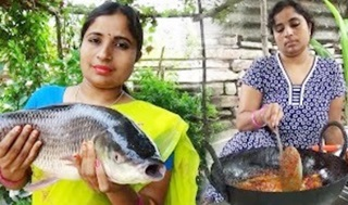 Amazing Fish Fry Recipe – How to Cut Up Big Fish And Village Style Cooking Big Fish Fry – Sea Foods