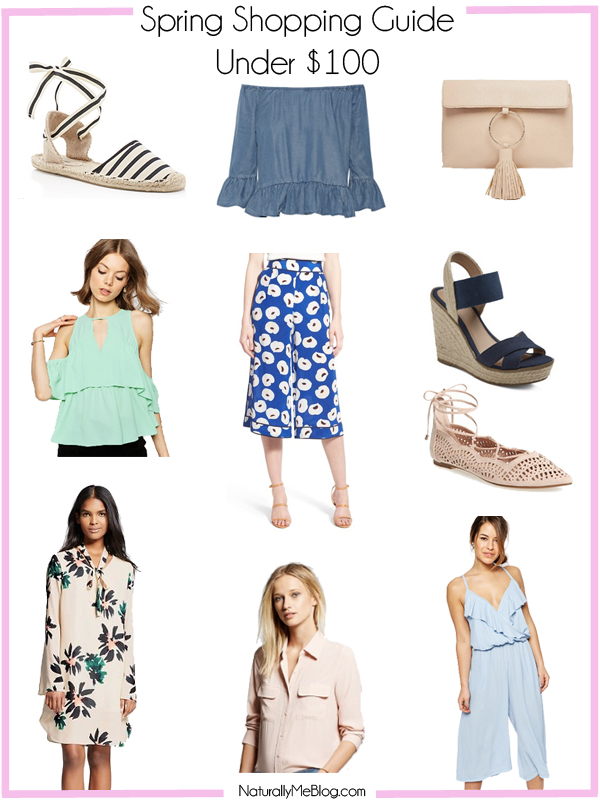 Spring picks, spring picks under $100, ASOS jumpsuit, pastels, lace, eyelet, spring trends, shop the post, Spring Shopping Guide, pink, espadrilles