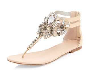 New Look Gem Stone T-Bar Sandals