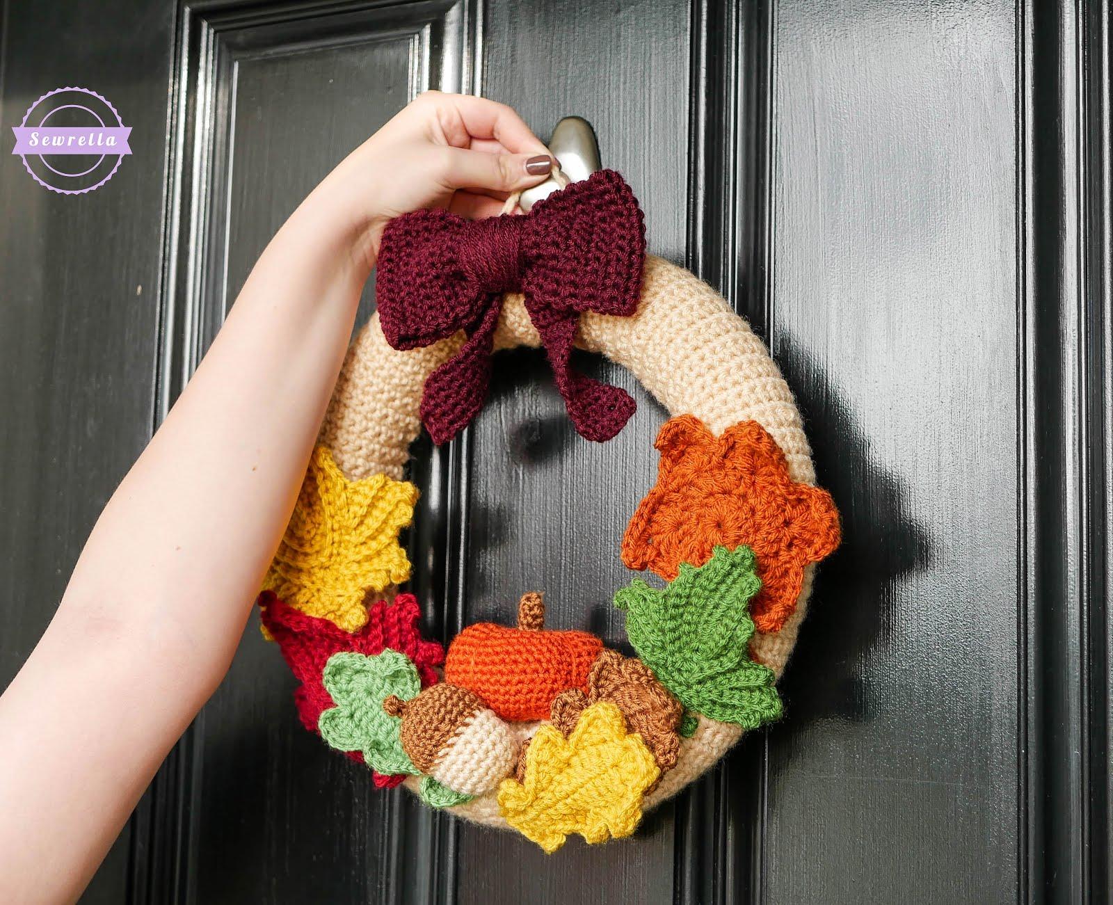 Mornings of Autumn Crochet Wreath - Sewrella