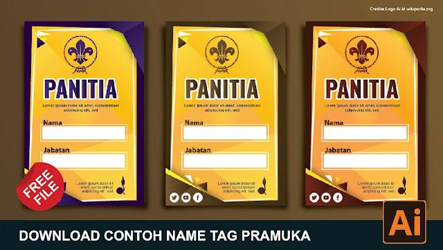 File File : Cara Mudah Membuat Name Tag Pramuka Coreldraw