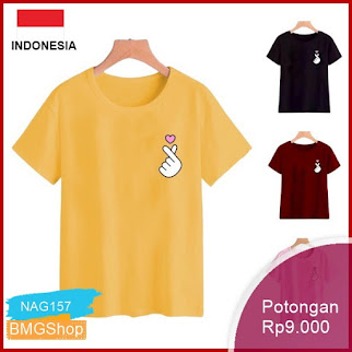 NAG157 Tshirt Kaos Wanita Tumblr Tee Sarange Fit L Bmgshop