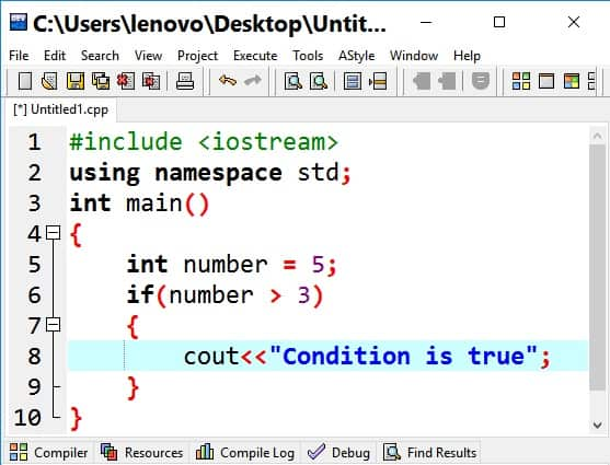 If statement in C++