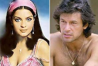 Zeenat Aman with Imran Khan