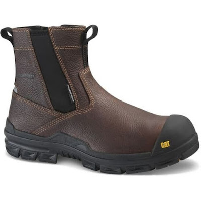 Sepatu Safety Caterpillar Throttle Pull on Tan CT Waterproof Original