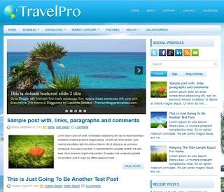 Travel Pro Blogger Template