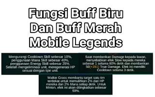 Fungsi Buff Biru Dan Buff Merah Mobile Legends Terbaru