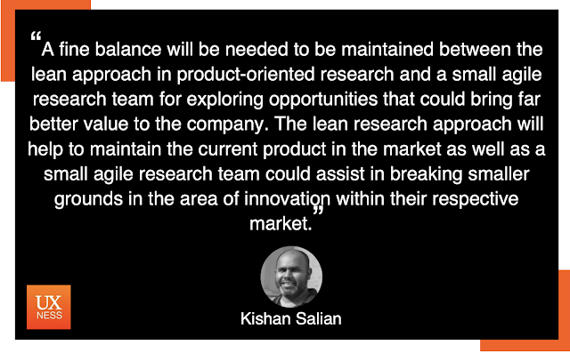 UX Quote by Kishan Salian