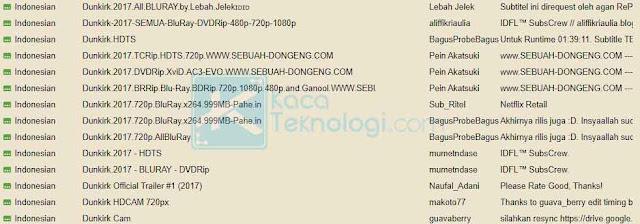Ada banyak kontributor subtitle Bahasa Indonesia seperti lebah ganteng, pein akatsuki, kakek salto, dll. Silakan unduh subtitle sesuai kualitas video yang Anda miliki, saya sarankan unduh subtitle untuk video HD.