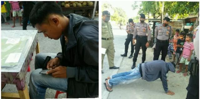 Penjual Jajanan Keliling Ngontel Terjaring Razia Masker, Tak Punya Uang 50 Ribu untuk Denda, Tak Hafal Pancasila dan Indonesia Raya