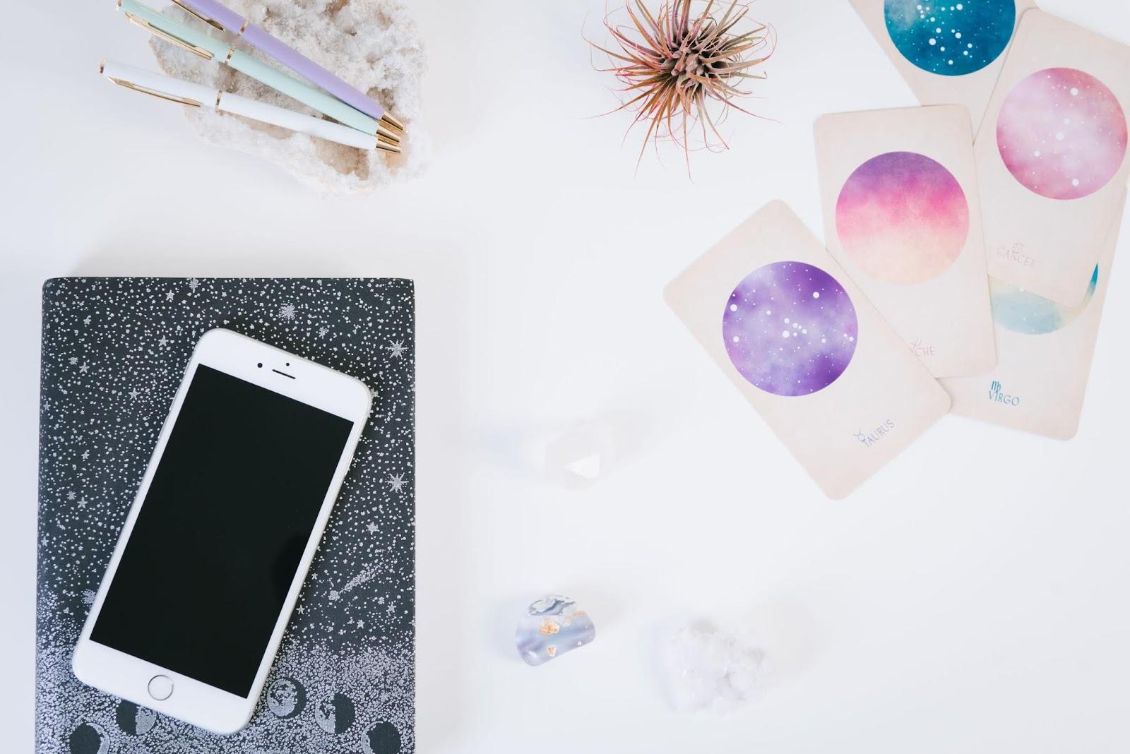 Tarot Journal and Tarot Cards