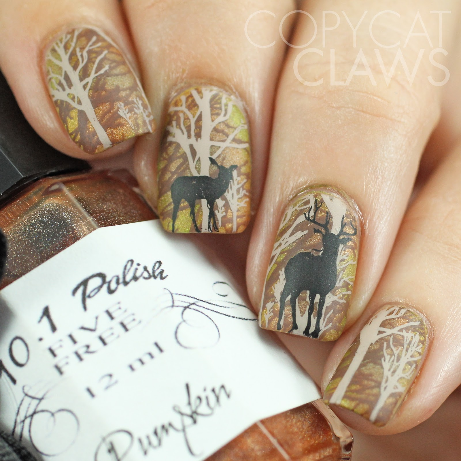Copycat Claws: The Digit-al Dozen does Autumn – Day 2 Deer In The Woods