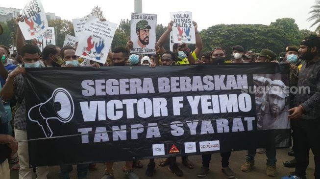 Muncul Ormas Tandingan Saat Aksi Demo Mahasiswa Papua di Jakarta, Teriak Kata-kata Rasis