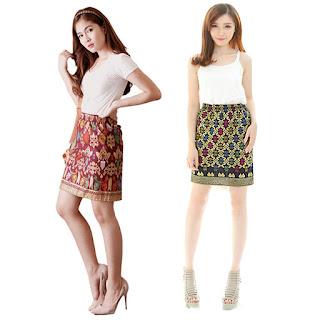 Model Rok Pendek Batik