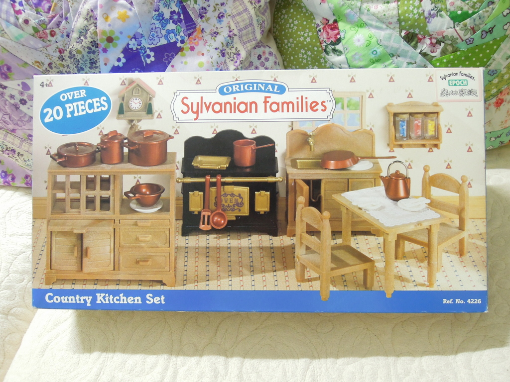 sylvanian families country kitchen set just for 森林家族 country kitchen set uk 鄉村廚房組 8421