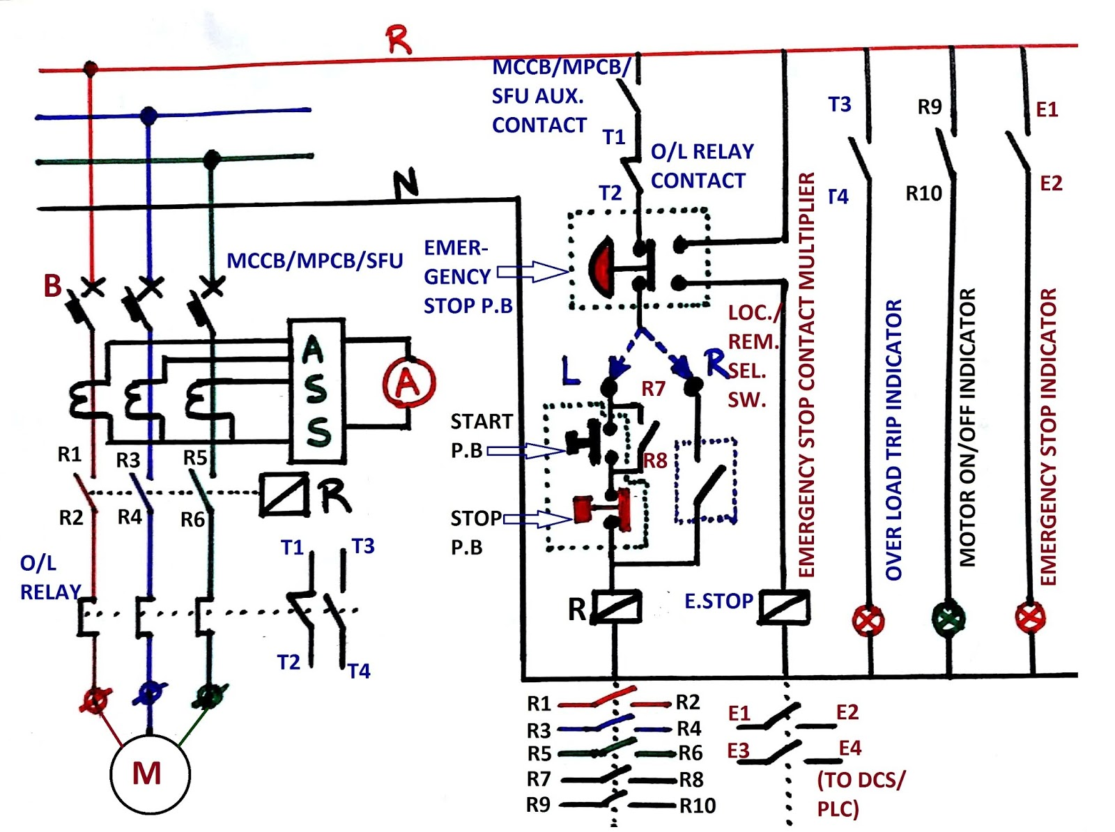 small resolution of dol starter control circuit diagram