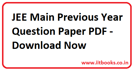Iit Jee Question Paper Pdf