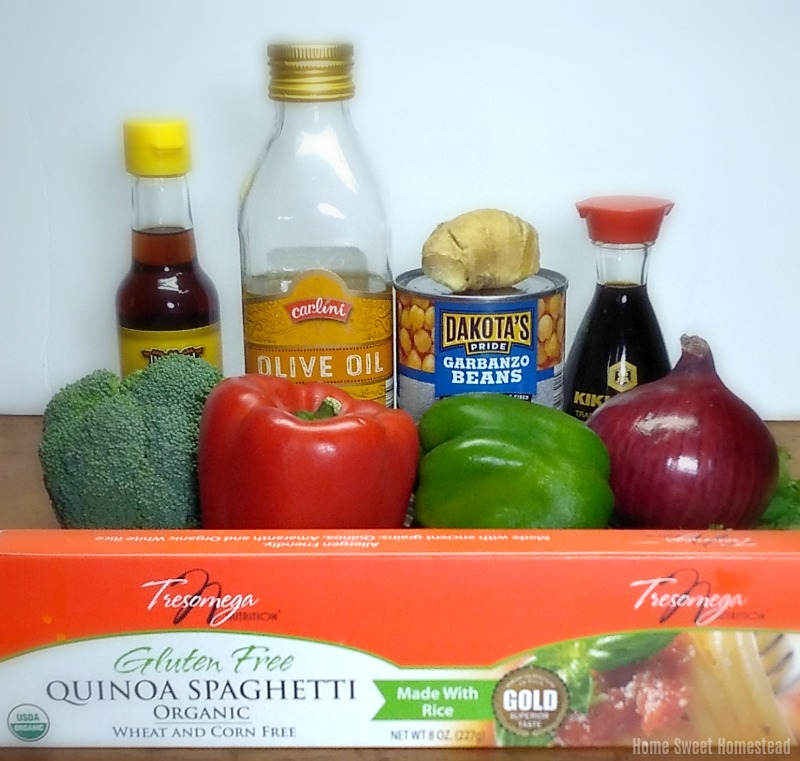 Asian Noodle and Chickpea Stir-fry Ingredients