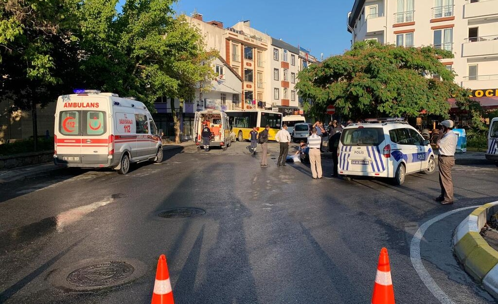 Sarigazi'de facia! Freni patlayan otobüs faciaya yol açtı: 1 ölü