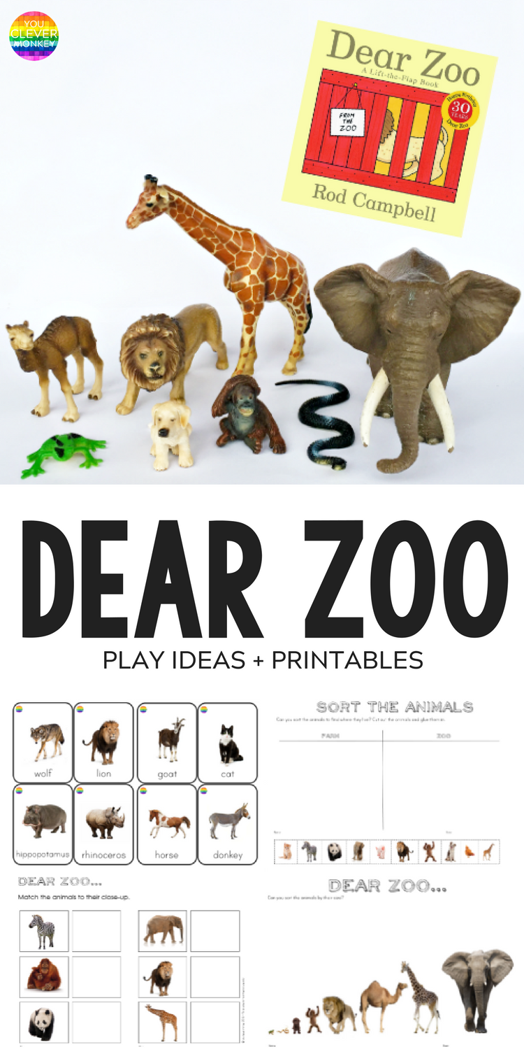 A. Dear Zoo - play ideas and printables inspired by the book 'Dear Zoo' | you clever monkey