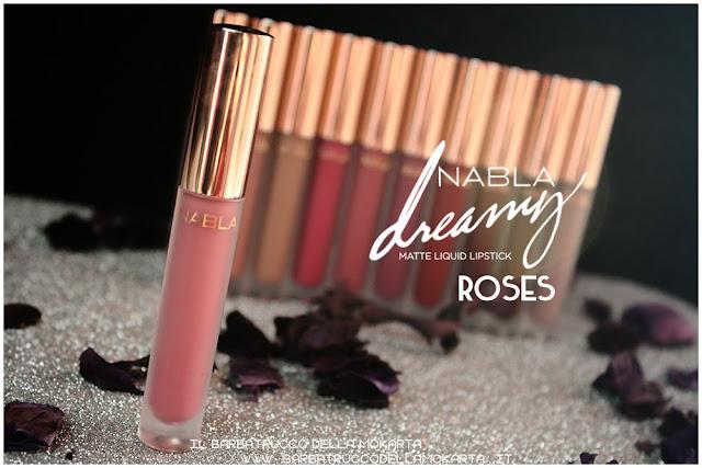 roses Dreamy Matte Liquid Lipstick rossetto liquido nabla cosmetics