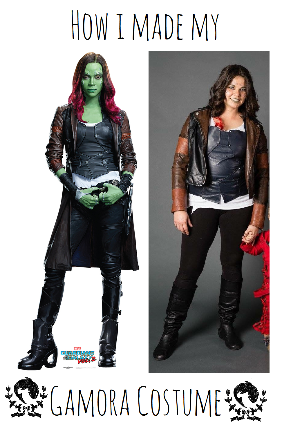 All in all I think the most expensive part of this costume was the jacket which was about $20. I had a lot of the materials I needed on hand.  sc 1 st  fish of the flock & Go For a Gamora (costume)