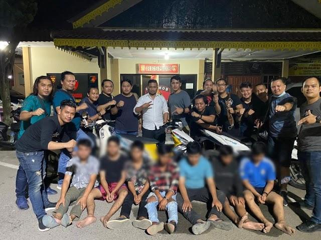Lari ke Kota Jambi, 7 Pelaku Pencurian Asal Kerinci Ditangkap Resmob Polda Jambi