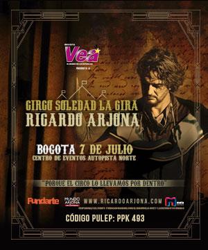 RICARDO ARJONA VUELVE EN CONCIERTO A BOGOTÁ 2