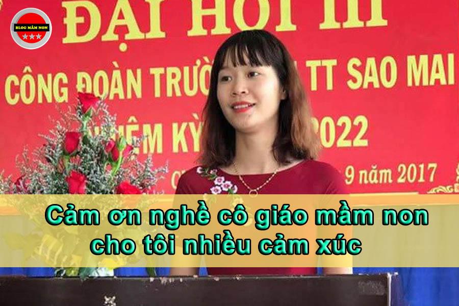 Nghề giáo viên mầm non đã cho tôi nhiều cảm xúc - Cô giáo Trang