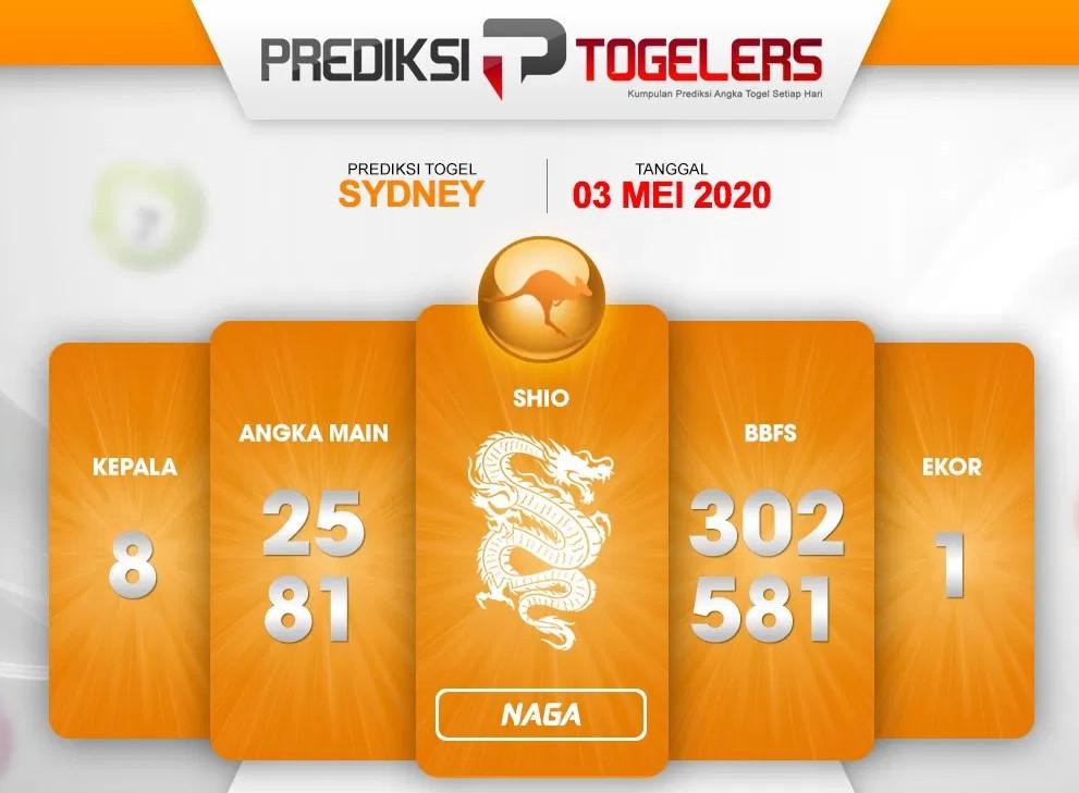 Bocoran Sydney 03 Mei 2020 - Prediksi Togelers