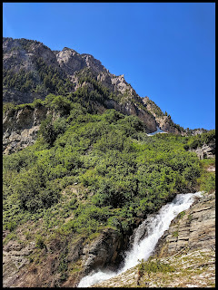 Lower Timpanogas Mountain Seasonal Waterfall along the trail to the top of Timpanogas Mountain