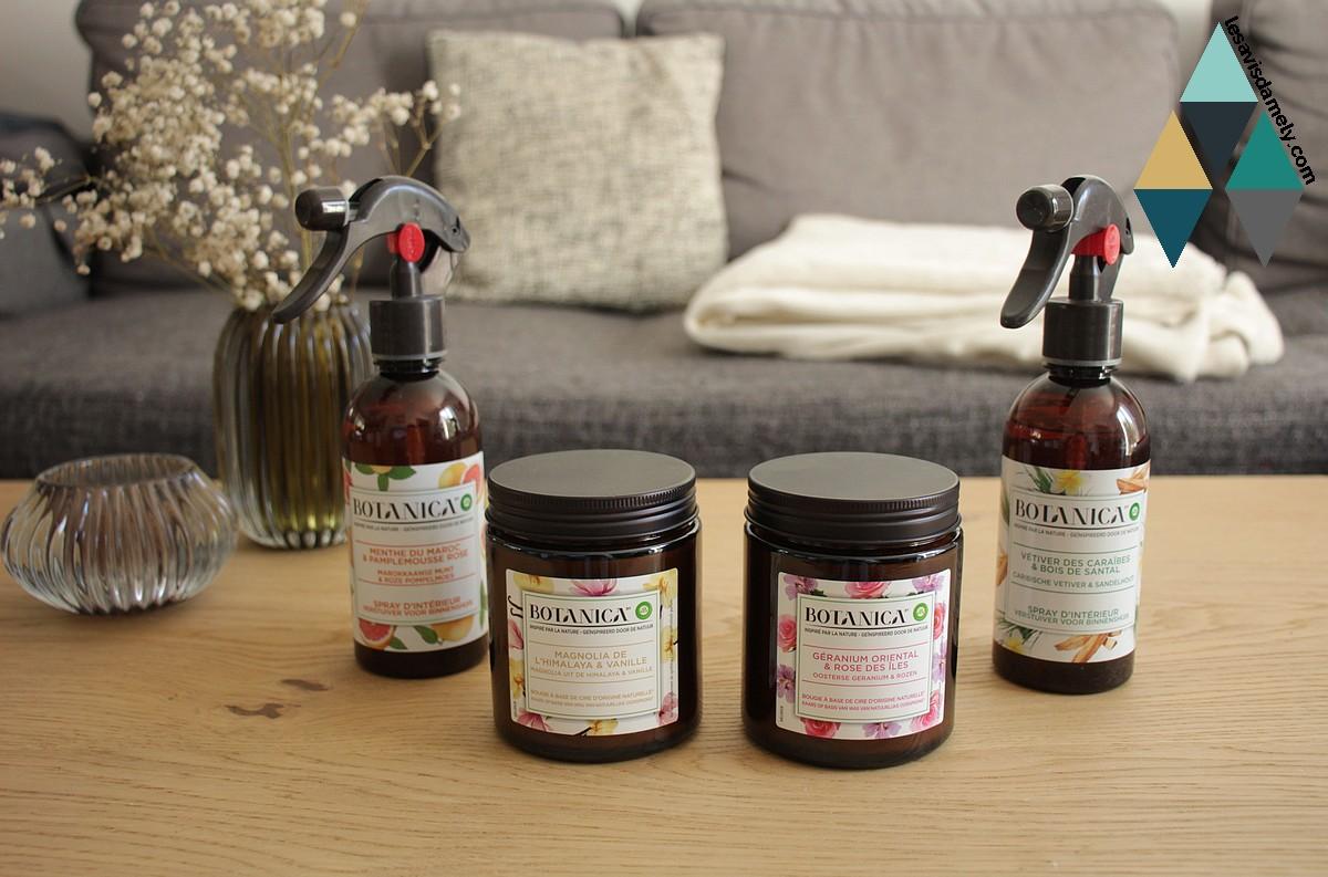 avis et test parfums intérieur botanica airwick