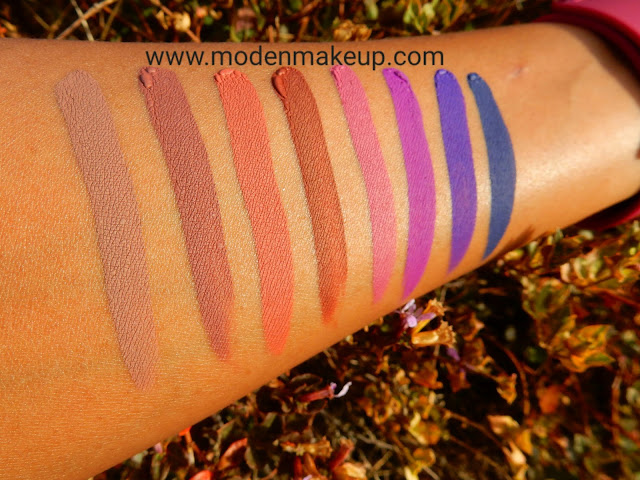 Kat Von D Everlasting Liquid Lipstick swatches - www.modenmakeup.com