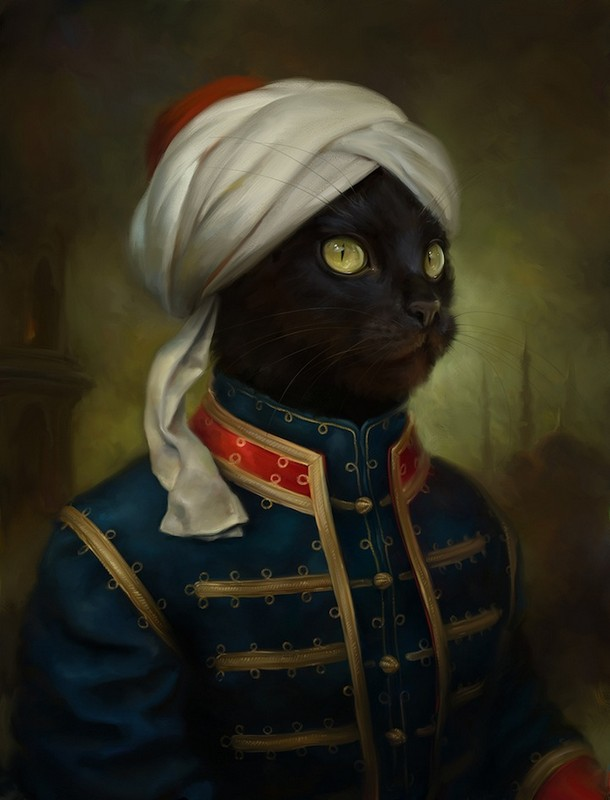 cats in classical dress