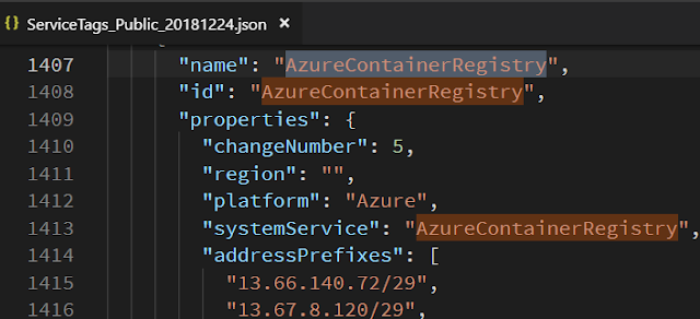 service public ip by Azure Container Registry