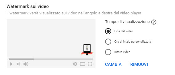 aggiunta di watermark ai video