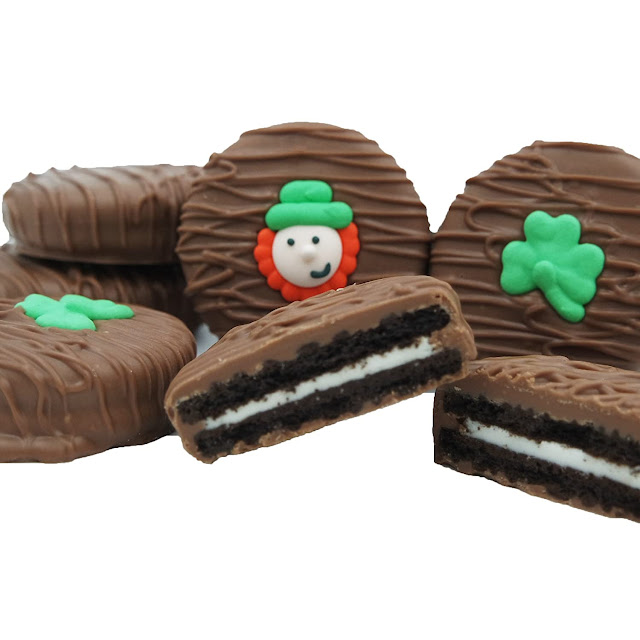Chocolate Covered OREO Cookies, St. Patrick's Day Gift