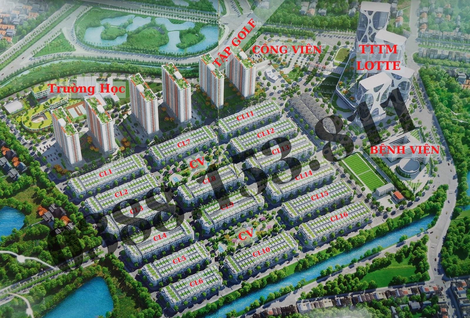 Tổng thể dự án Him Lam Green Park- Đại Phúc- TP Bắc Ninh