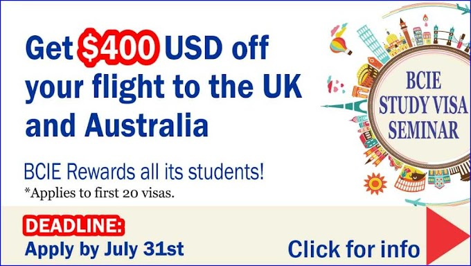Thinking of starting your studies in the UK and Australia in 2019? Apply before 31st July